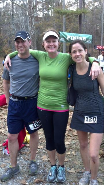 Despite not being able to finish I was all smiles cheering on runners at the finish! Congrats David and Laura 9:22:48- Pine Mountain 40, Pine Mountain, GA