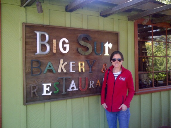 Laura at Big Sur Bakery...too full to partake