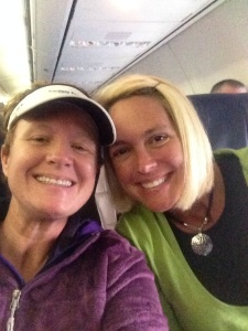 Plane Selfie we sent to our St. Paul friend to say good bye!
