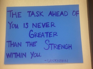 one of the many motivational quotes at expo...this was our mantra