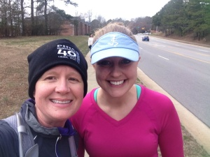 Kayla joined me at mile 19-31! She chatted me up the entire way! Thanks Kayla