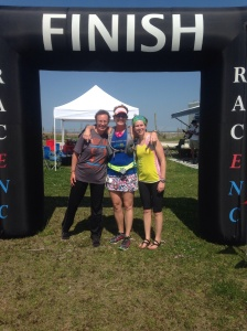 Amy( Race Director & my sister) with Ashley and I at the finish!