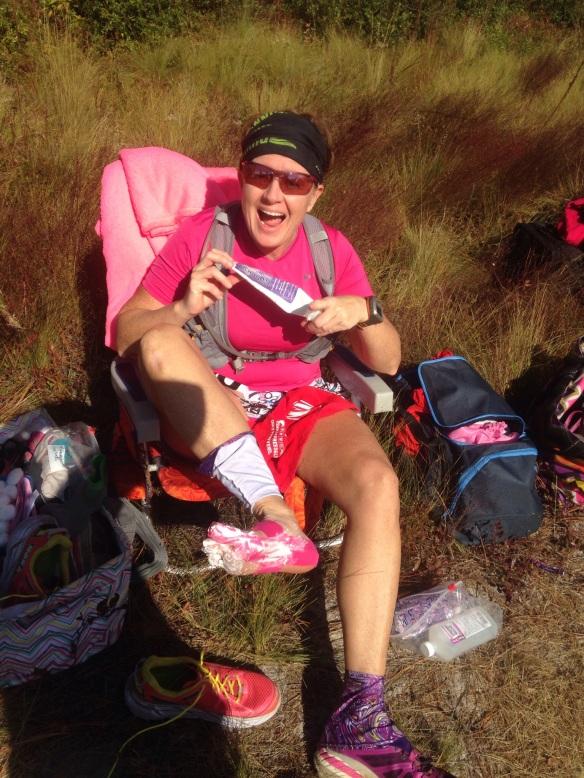 Mile 14 Foot care preventative maintenance! clean feet, fresh socks, and shoe change