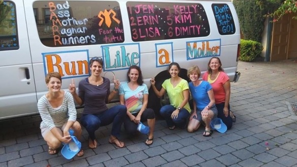 Van #1-Erin, Dimity, Jen, Kelly, Kim, Lisa.  Kicked up off bright and early Friday morning!