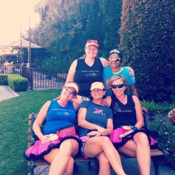 Killing time in Calistoga! What a cute little town  We did not stick out a bit in our tutus