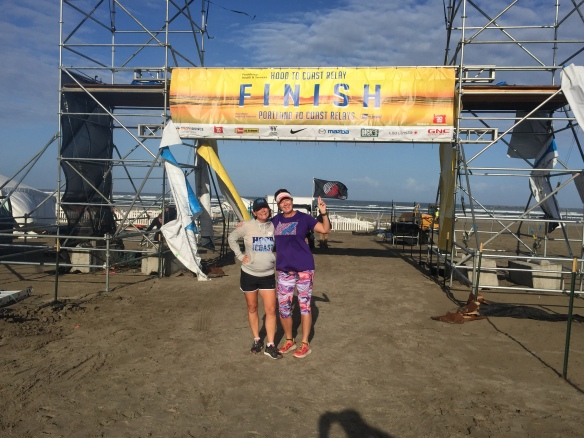 Despite the finish line being closed on Saturday we got our official picture on Sunday am!