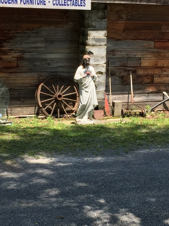 Everyone needs a little Jesus! I spotted Jesus on the training run beside the trail at an auction house. Jesus Take The Trail #JTTT