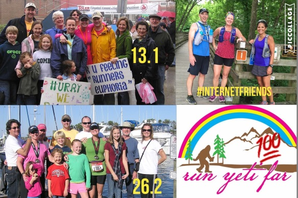 My Crew! My family and #internetfriends! My family joined me for my 13.1, 26.2, skipped the 42, 62, and 75 miles. Rejoined for 100 miles! My local running friends, no longer able to keep up with my running craziness, encouraged me to expand my running network to give them a break! Hence, came Anj and Fred. Long time social media contacts and now friends!
